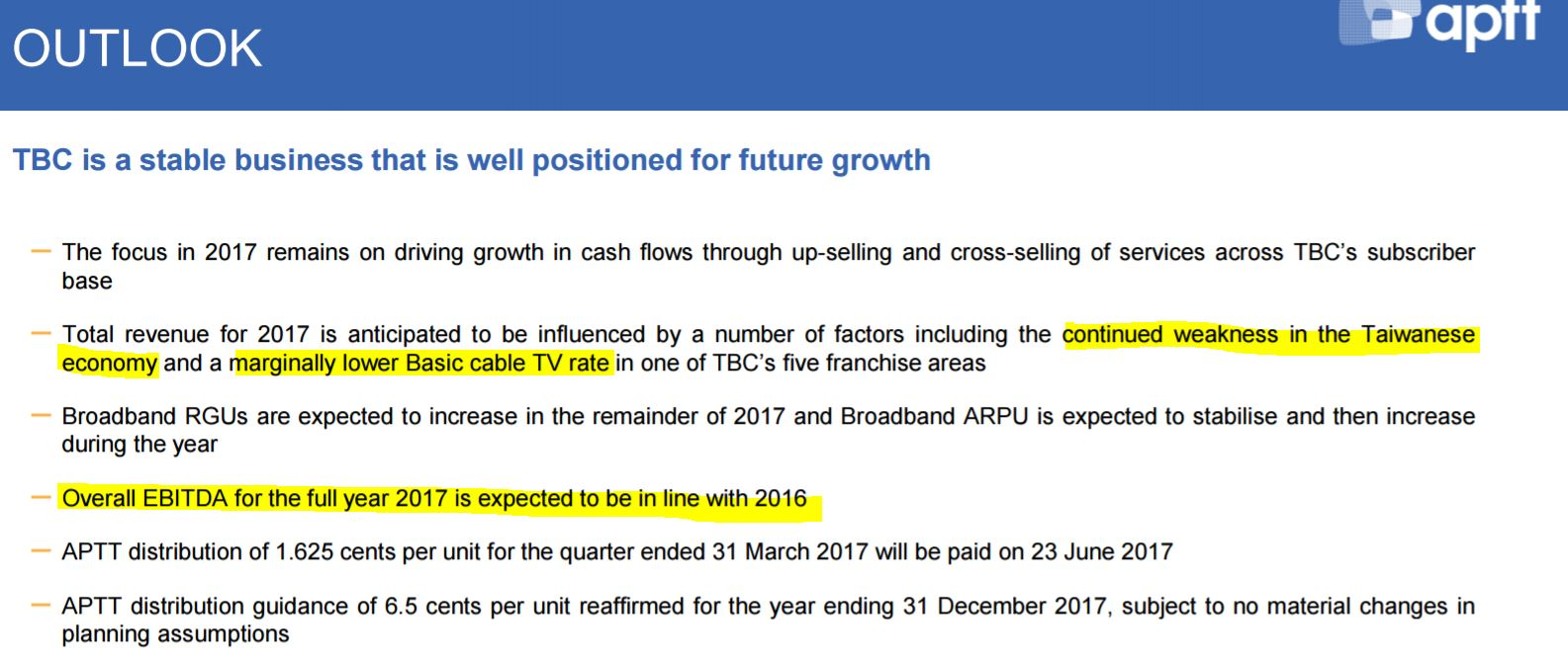 asian pay tv trust outlook