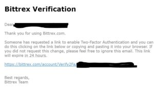 How to set up 2FA (two factor authentication) in Bittrex
